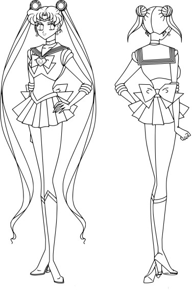 Coloriage Sailor Moon cosmos