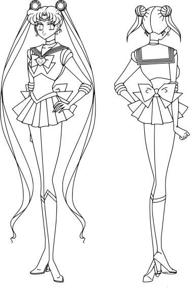 Coloriage Sailor Moon cosmos