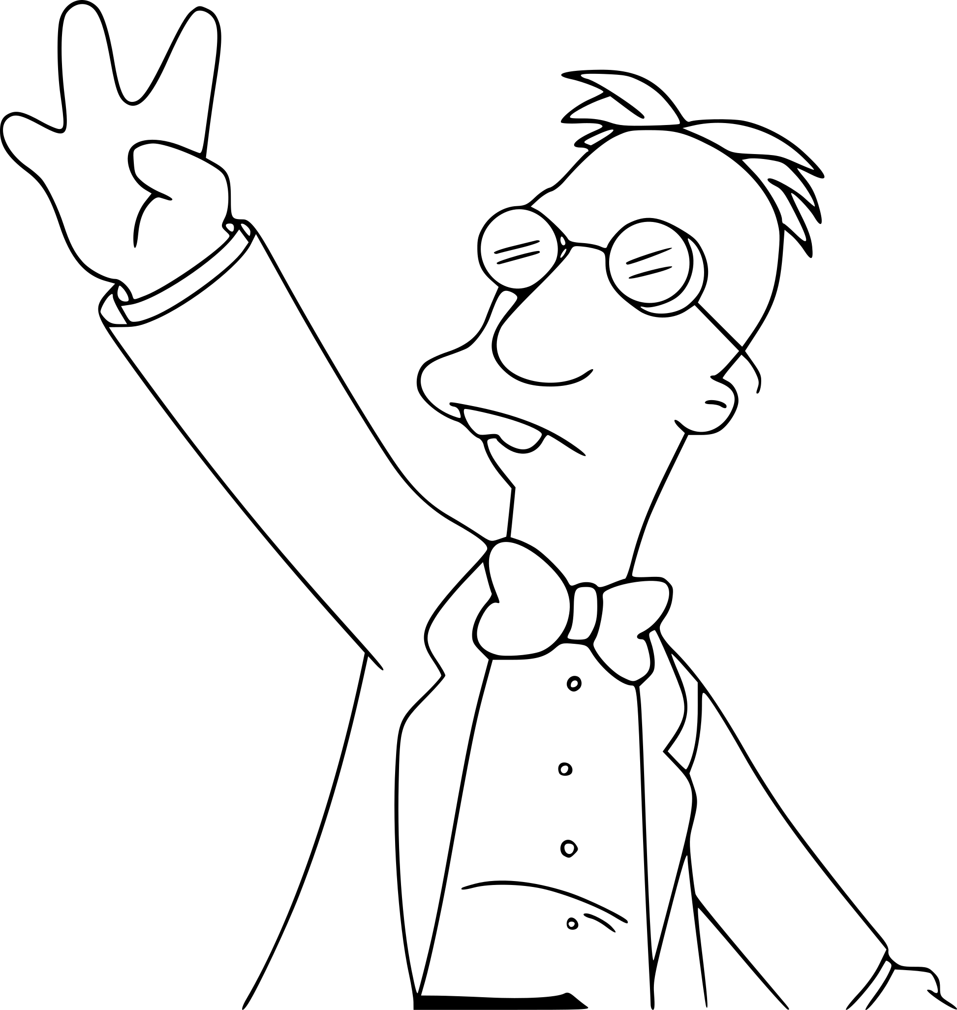 Coloriage Simpson professeur Frink