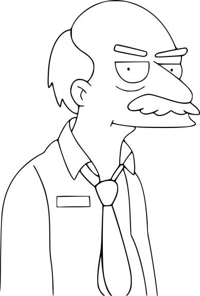 Coloriage Simpson Sarcastic Clerk