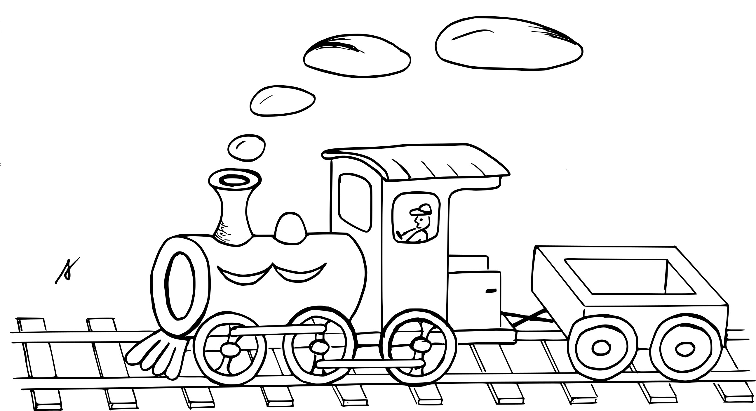 Coloriage Train et wagon à imprimer