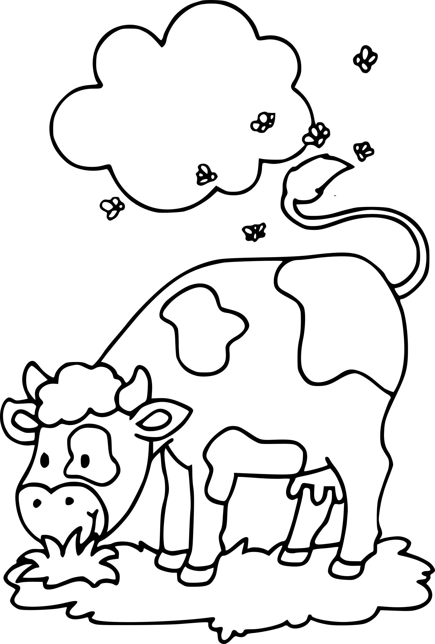 Élégant Dessin A Colorier Et A Imprimer De Vache