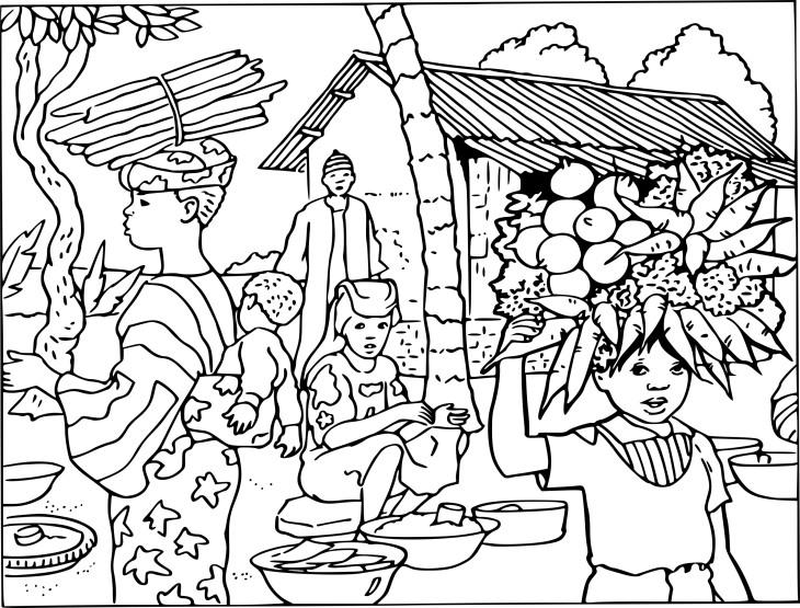 Coloriage village afrique imprimer - Village de noel dessin ...