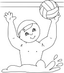 Coloriage Waterpolo