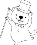 Marmotte coloriage