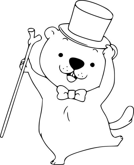 Coloriage marmotte gratuit imprimer - Coloriage marmotte ...