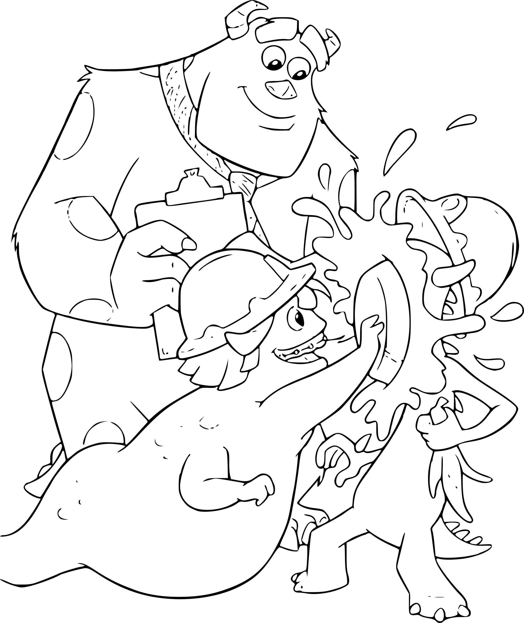 Coloriage Monstres et Cie et dessin à imprimer