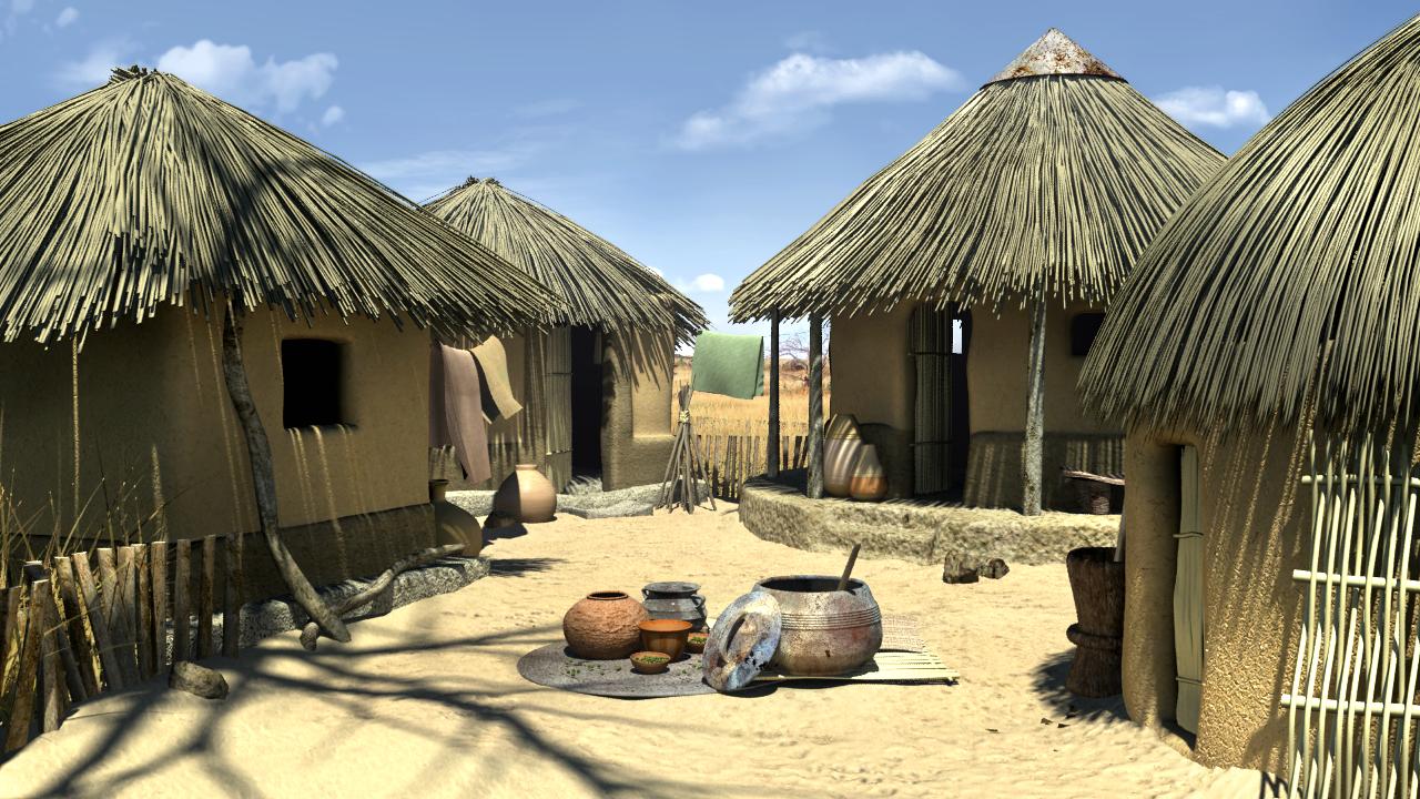 Coloriage village afrique imprimer - Dessin village ...