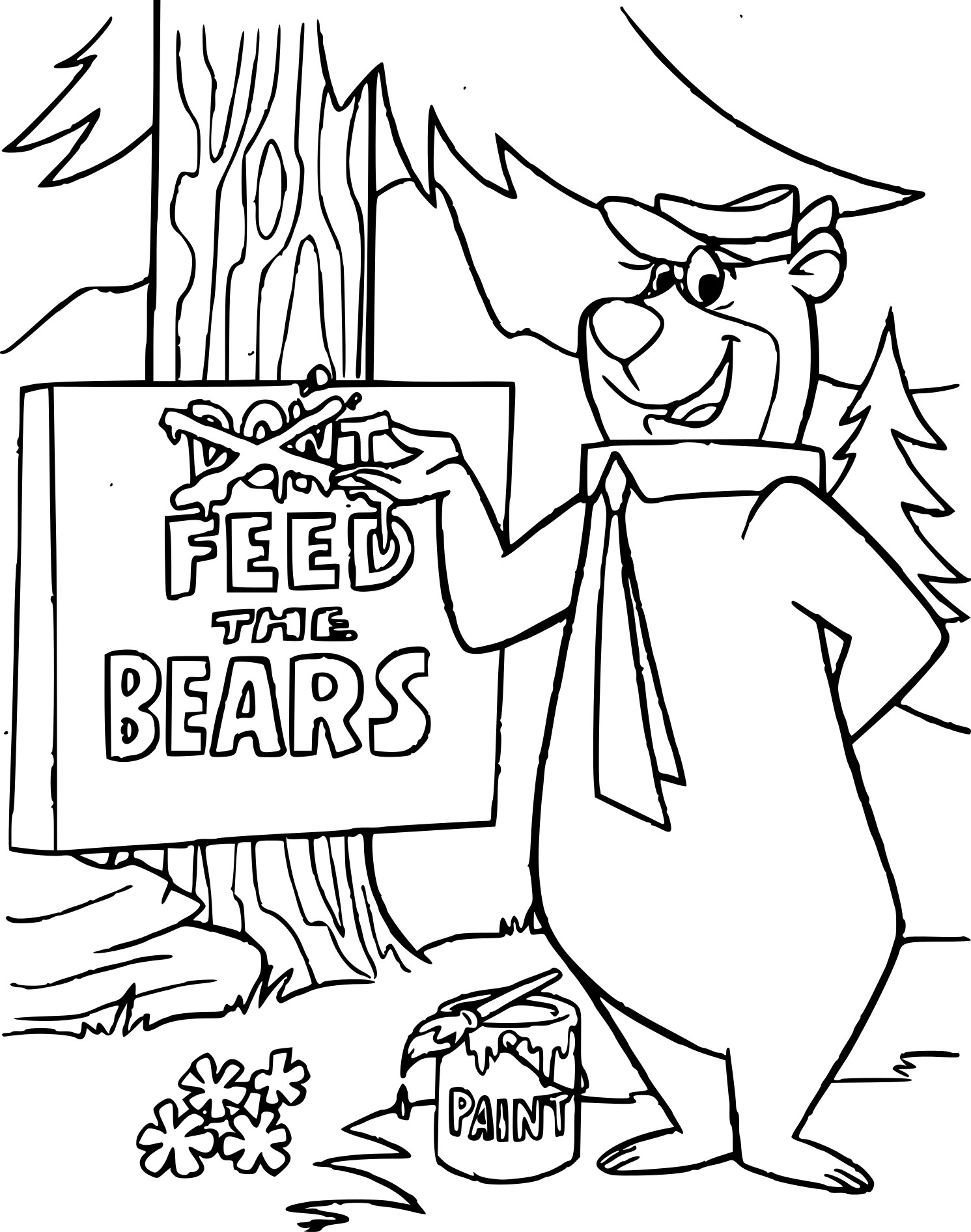 Yogi l'ours coloriage