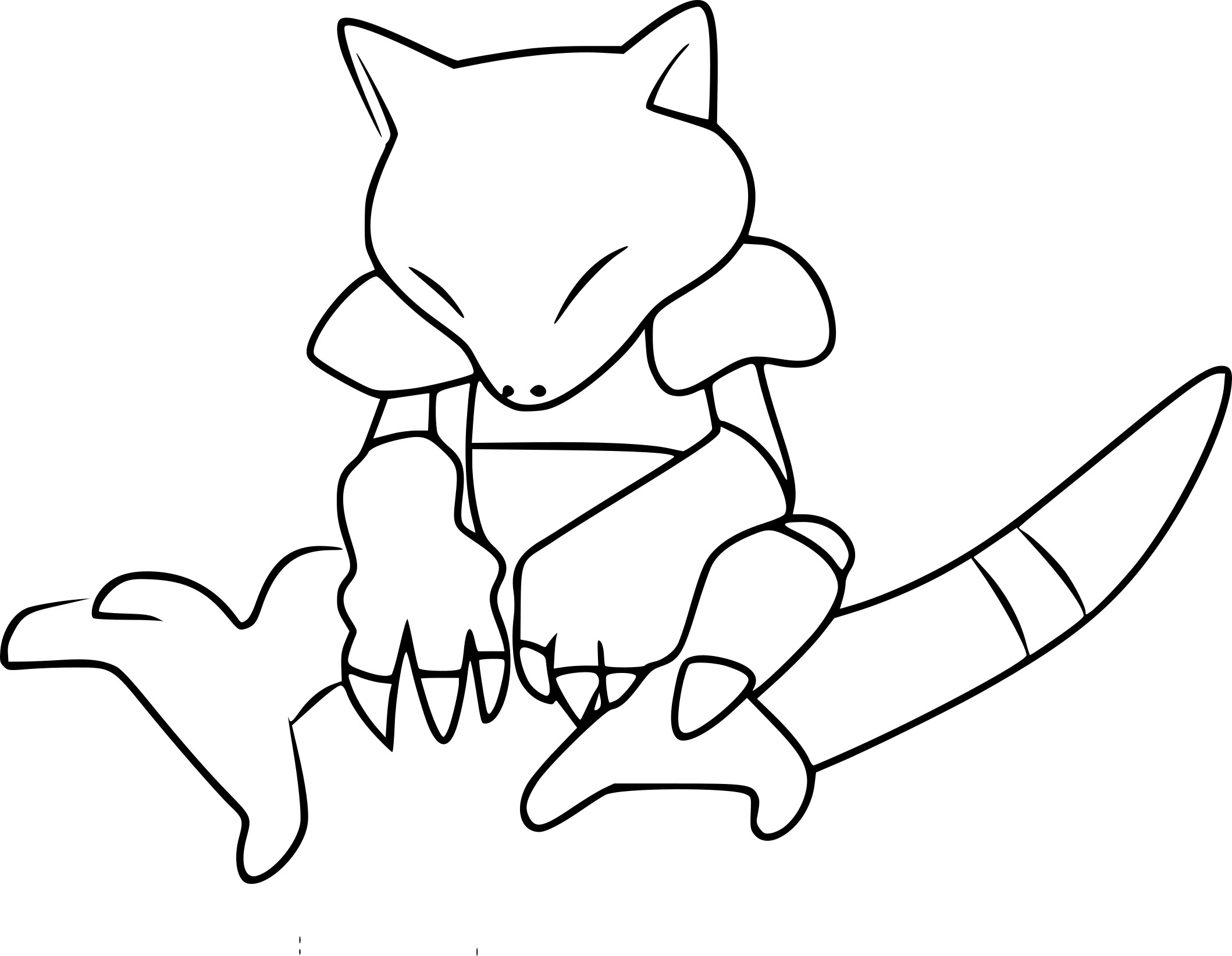 Coloriage Abra Pokemon Go