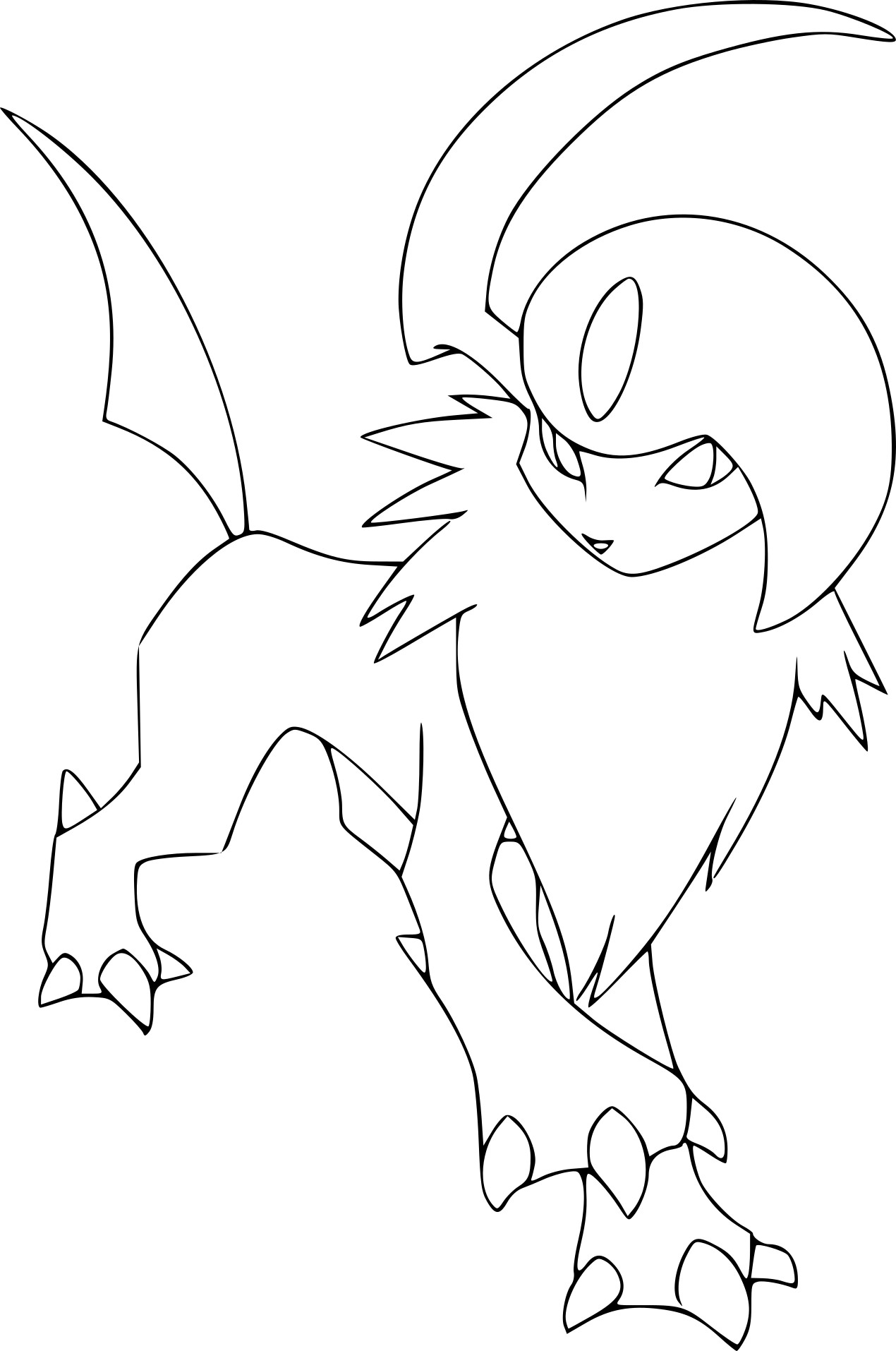 Coloriage Absol