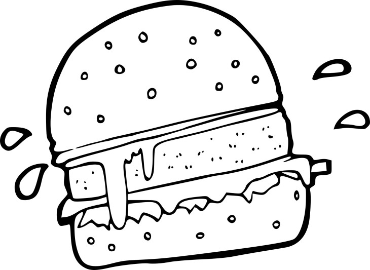 Coloriage burger