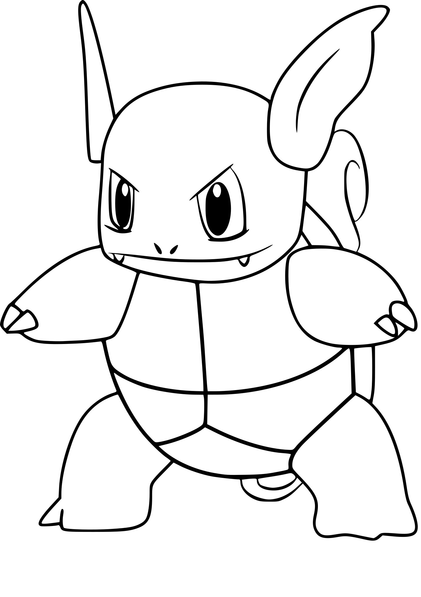 Coloriage Carabaffe Pokemon Go
