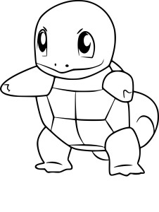 Coloriage Carapuce Pokemon Go