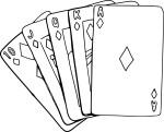 Coloriage carte à jouer