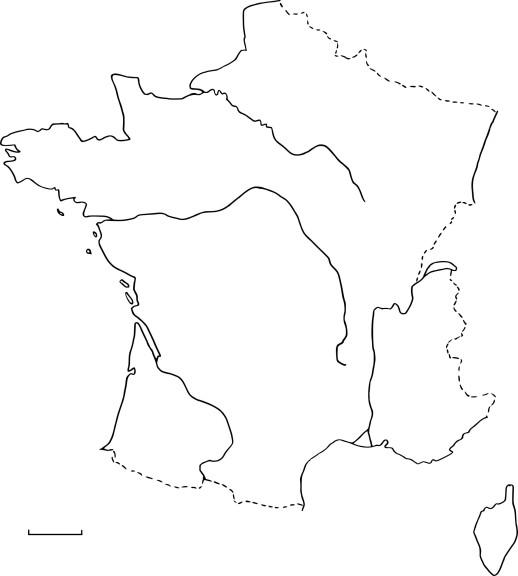 Coloriage carte de France
