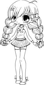 Coloriage Chibi princesse