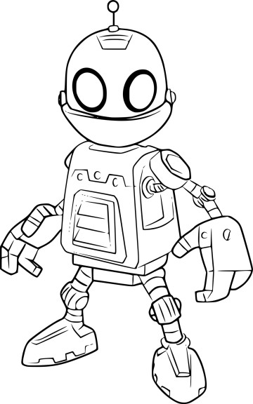 Coloriage Clank