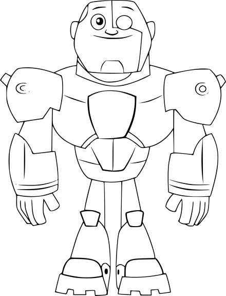 Coloriage Cyborg Teen Titans