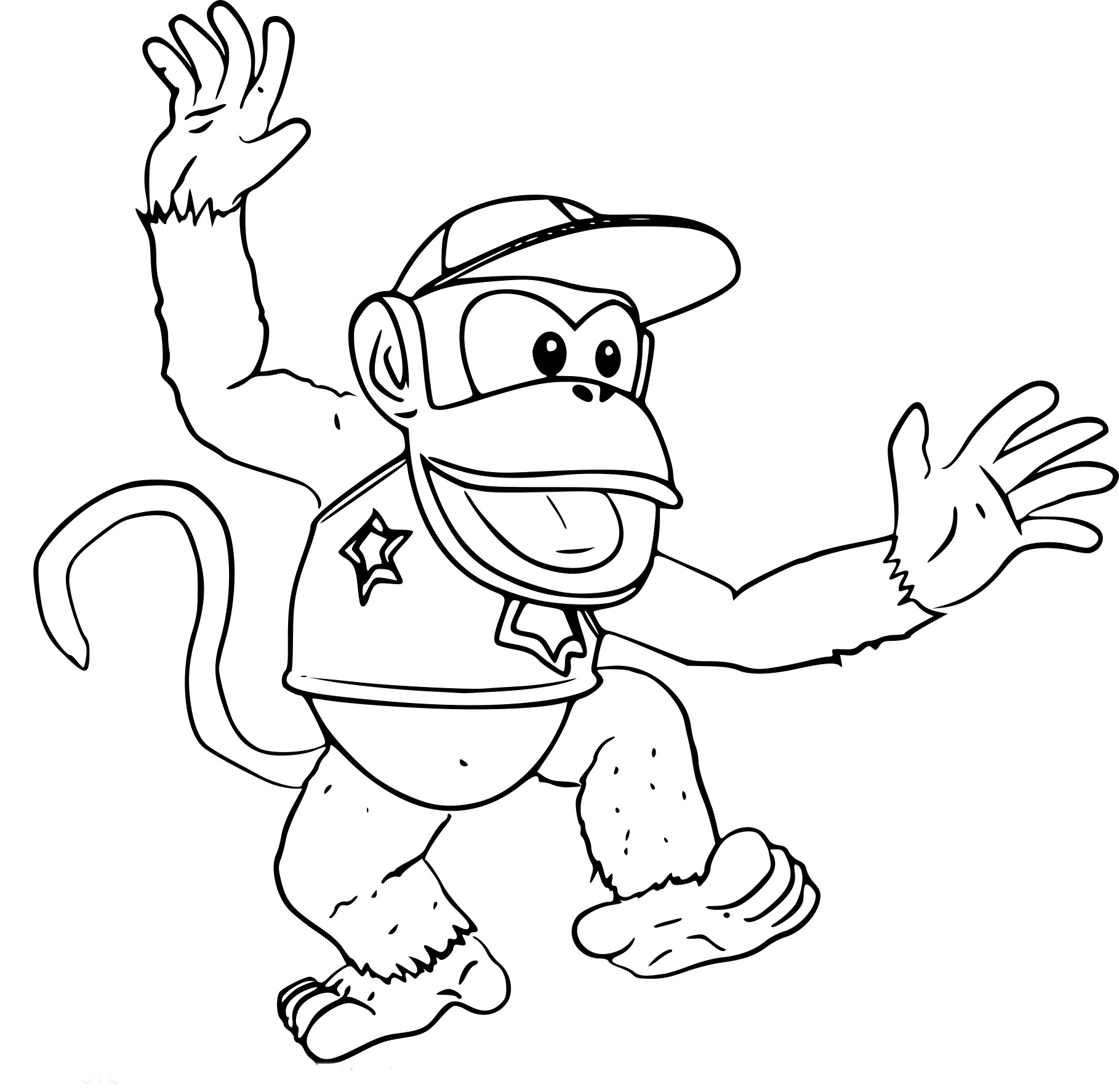 Coloriage Diddy Kong