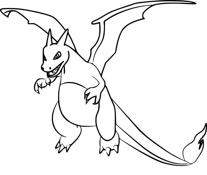 Coloriage dracaufeu pokemon go imprimer - Apprendre a dessiner pokemon ...