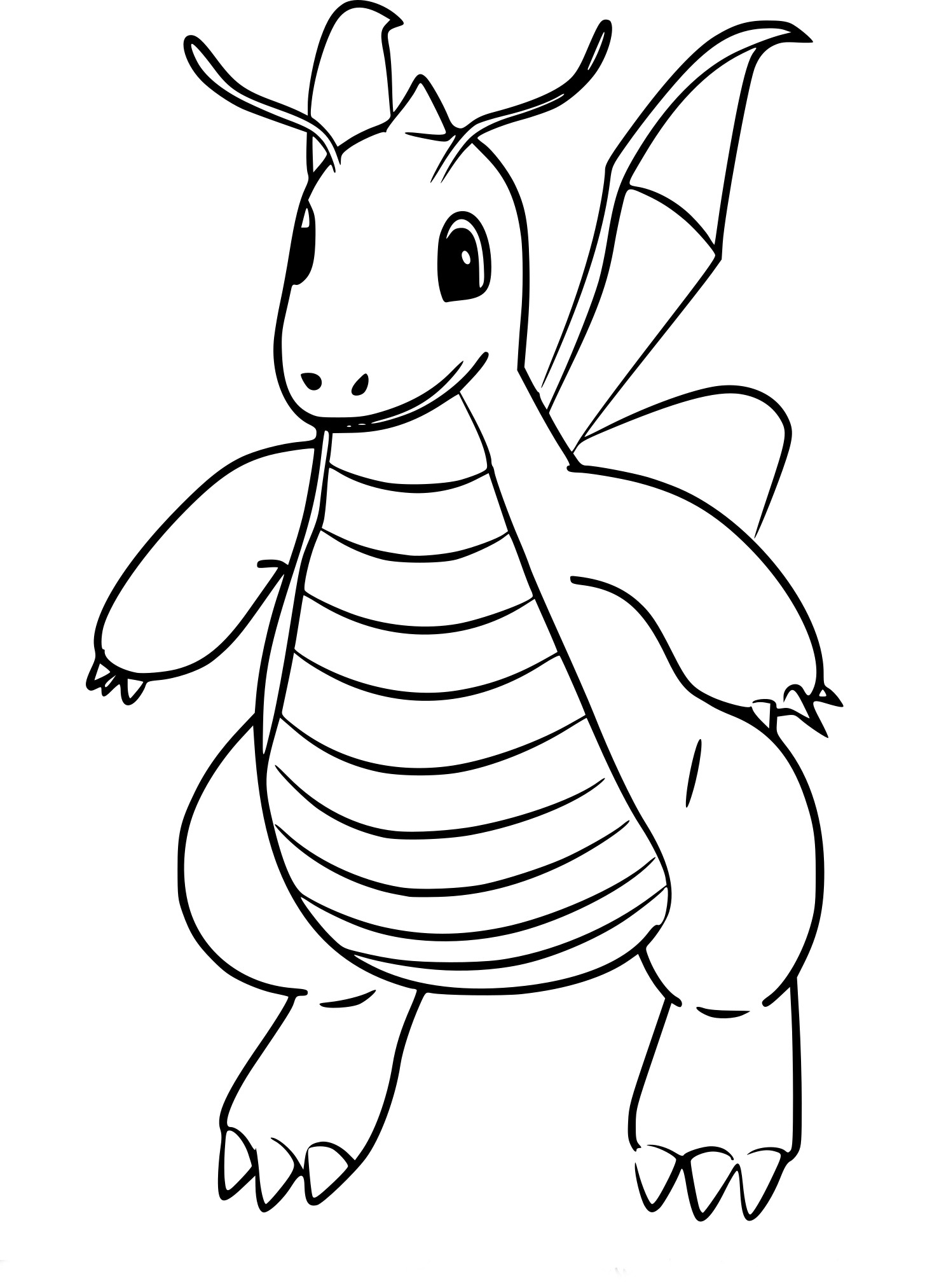 Coloriage Dracolosse Pokemon Go