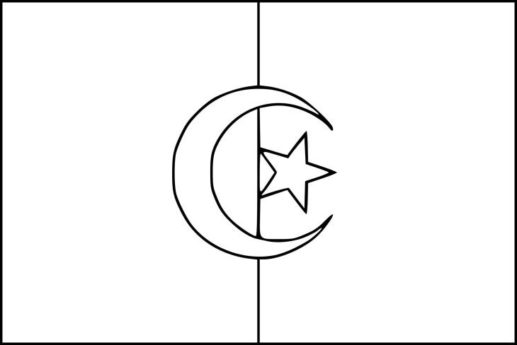 Coloriage drapeau alg rie imprimer - Coloriage drapeau ...