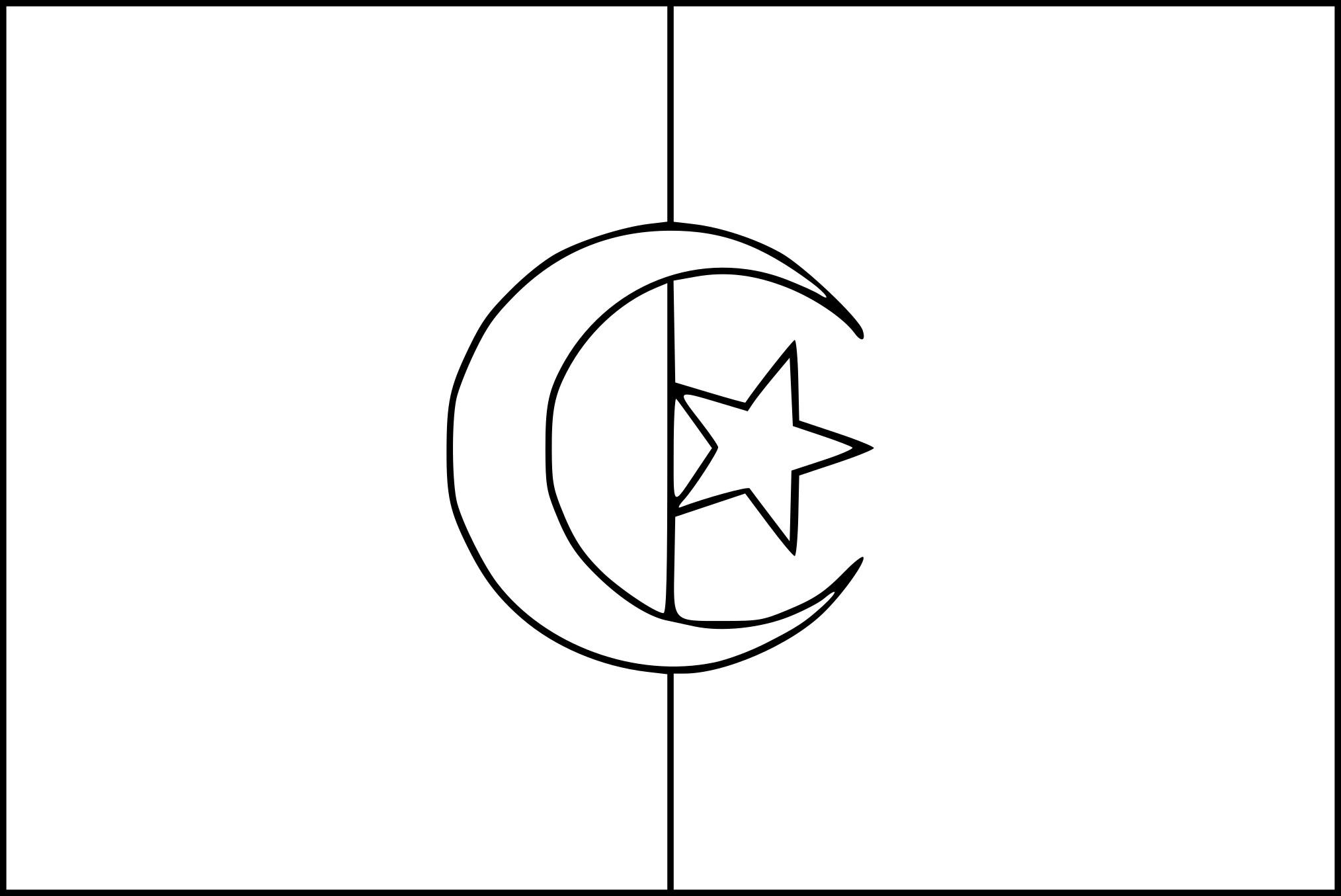 coloriage drapeau algerie