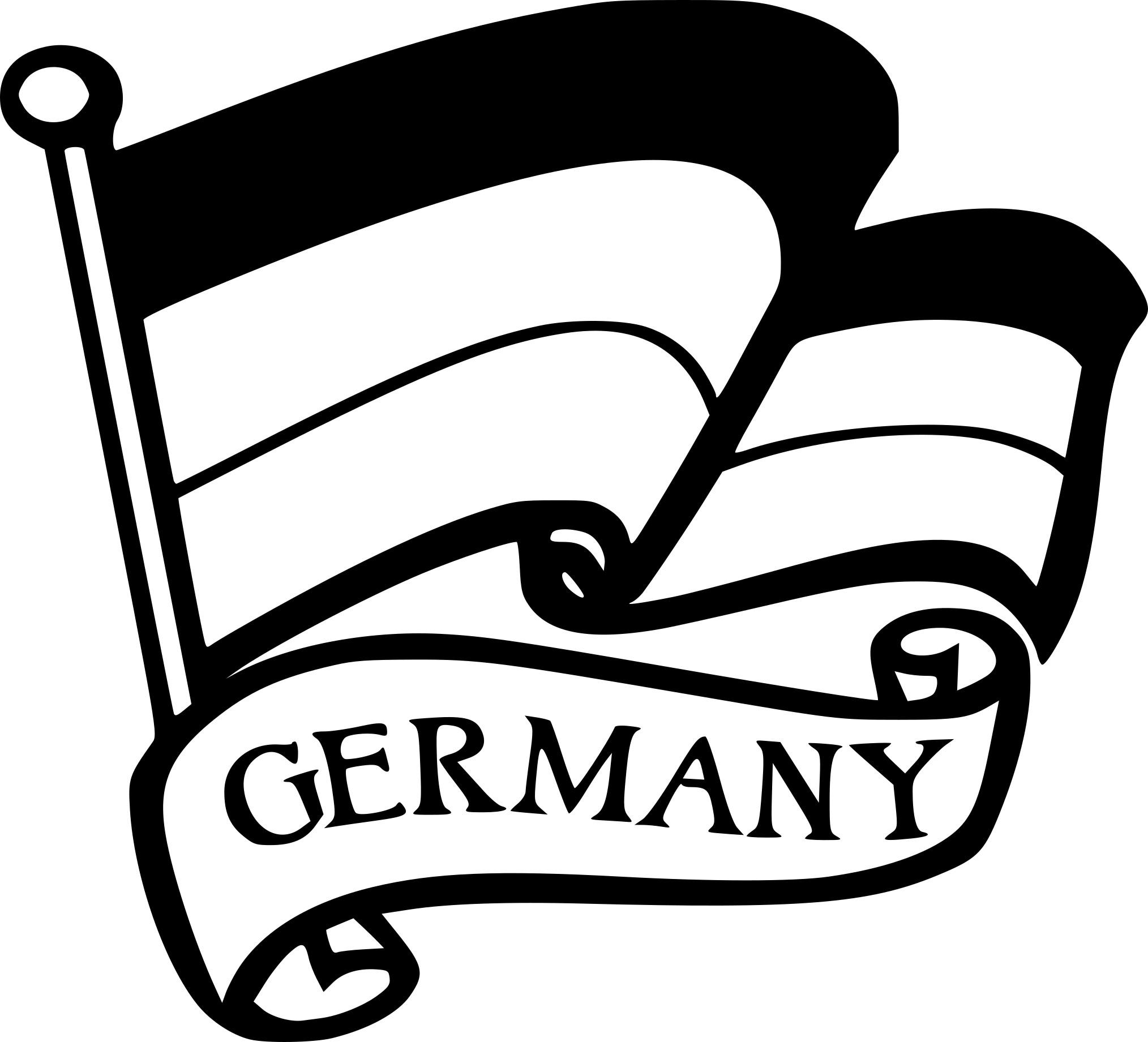 Coloriage drapeau Allemagne