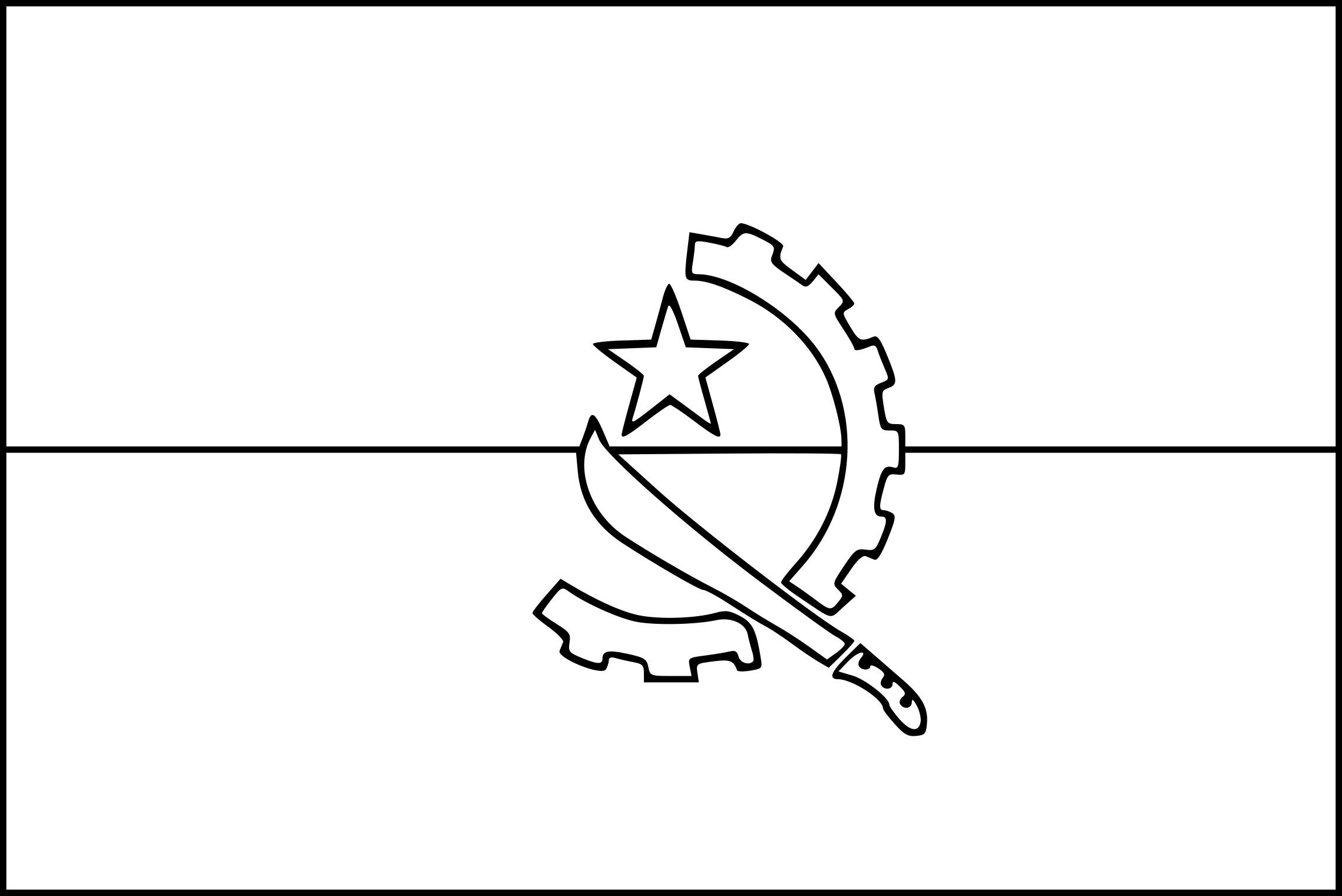 Coloriage drapeau angola imprimer - Coloriage drapeau espagne ...