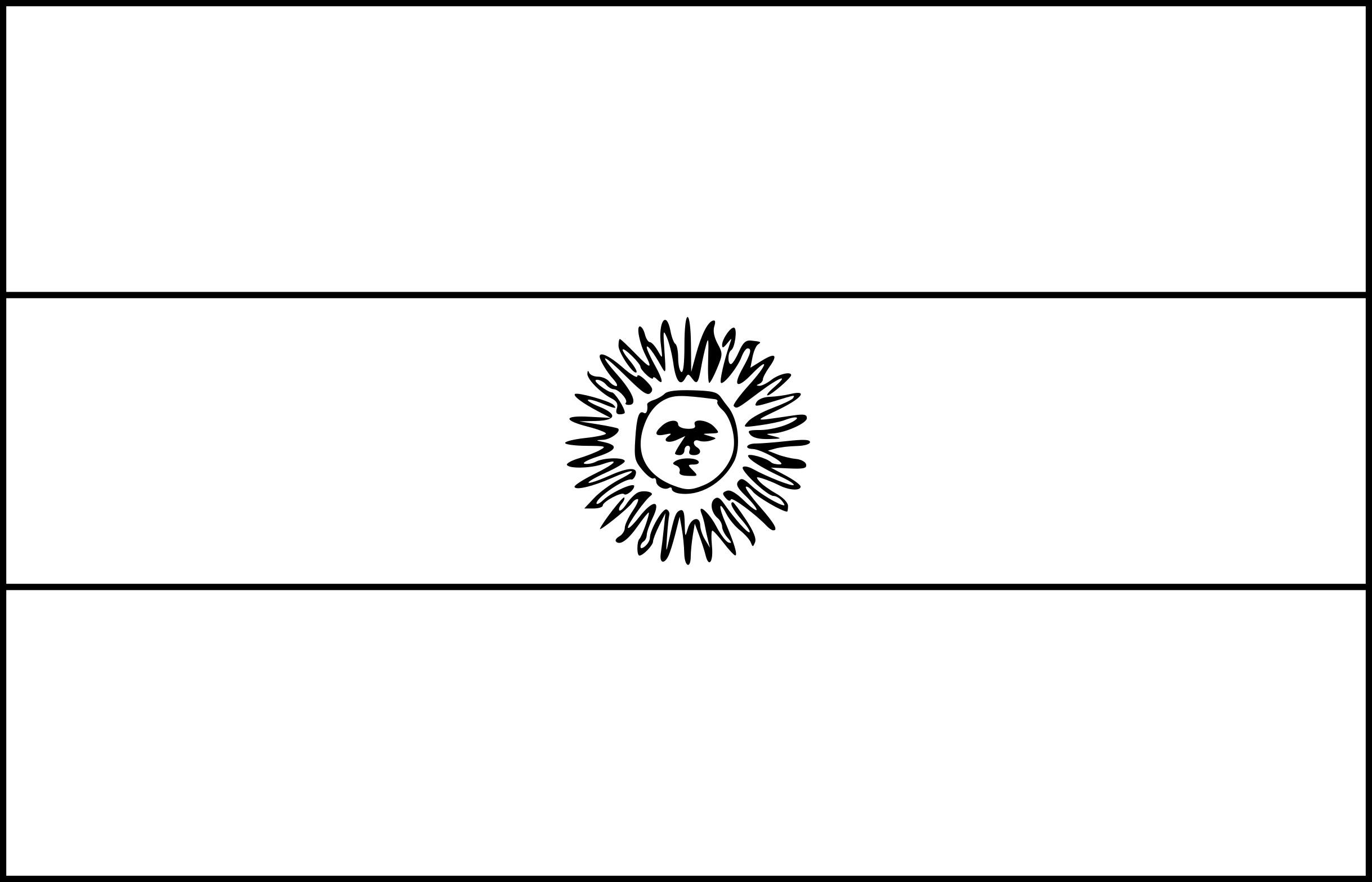 Coloriage drapeau Argentine