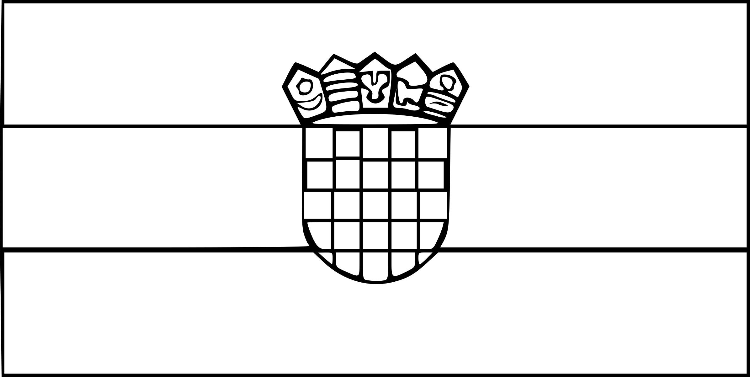 coloriage drapeau croatie