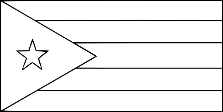 Coloriage drapeau Cuba à imprimer