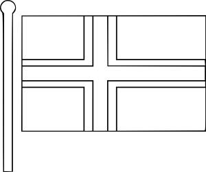 Coloriage drapeau de norvege