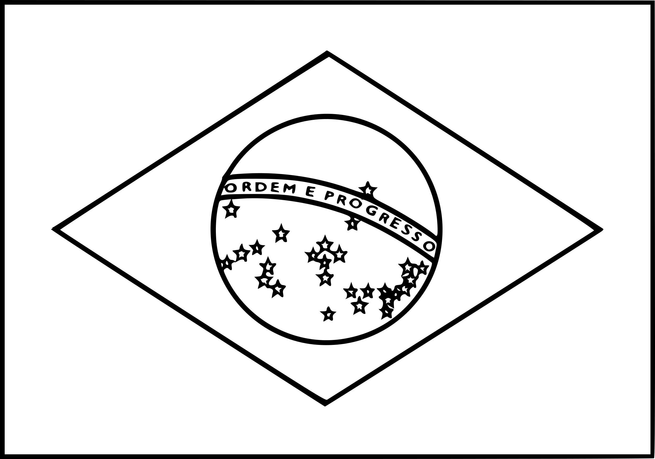Coloriage drapeau du Bresil
