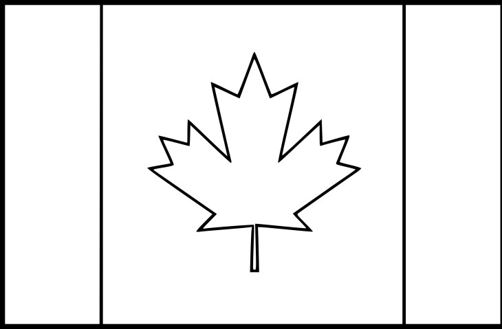 coloriage drapeau du canada