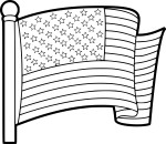 Coloriage drapeau États-Unis