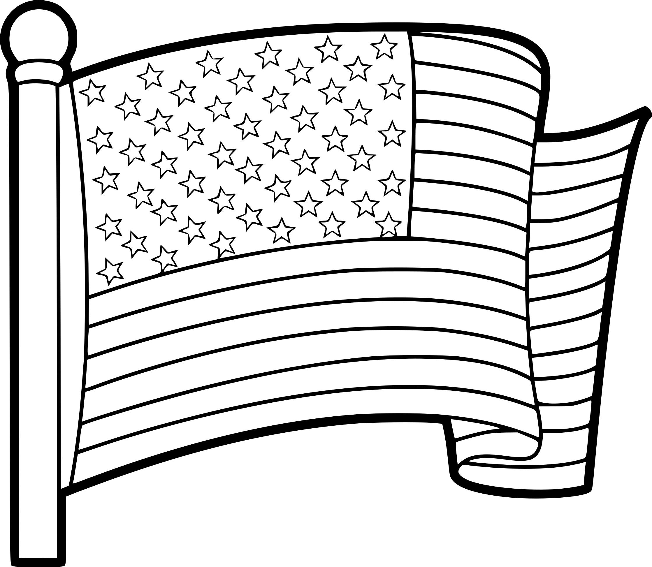 coloriage drapeau etats unis