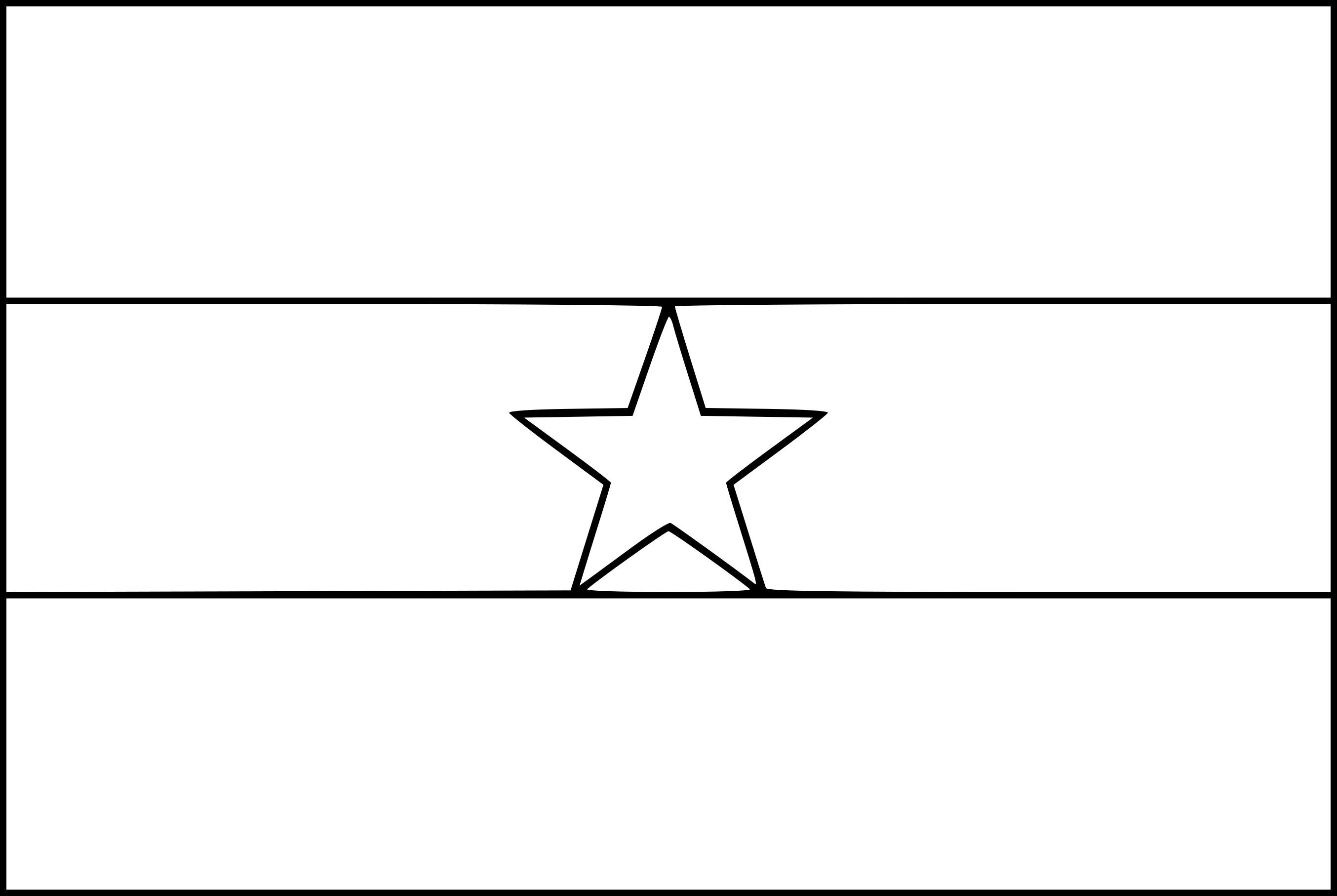 Coloriage drapeau Ghana