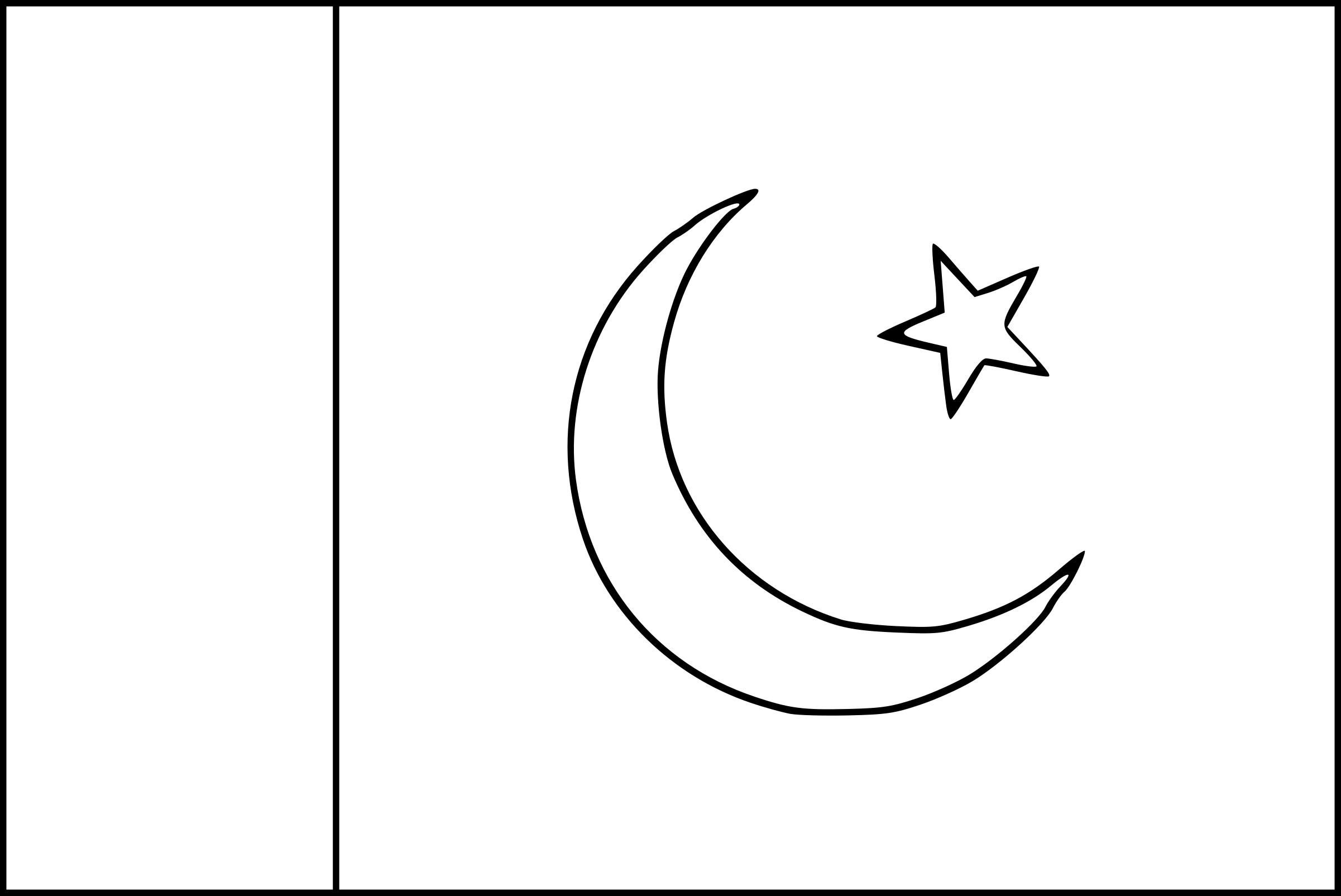 coloriage drapeau pakistan