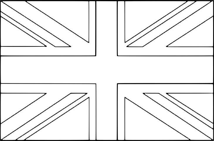 Coloriage drapeau royaume uni imprimer - Coloriage magique vierge ...