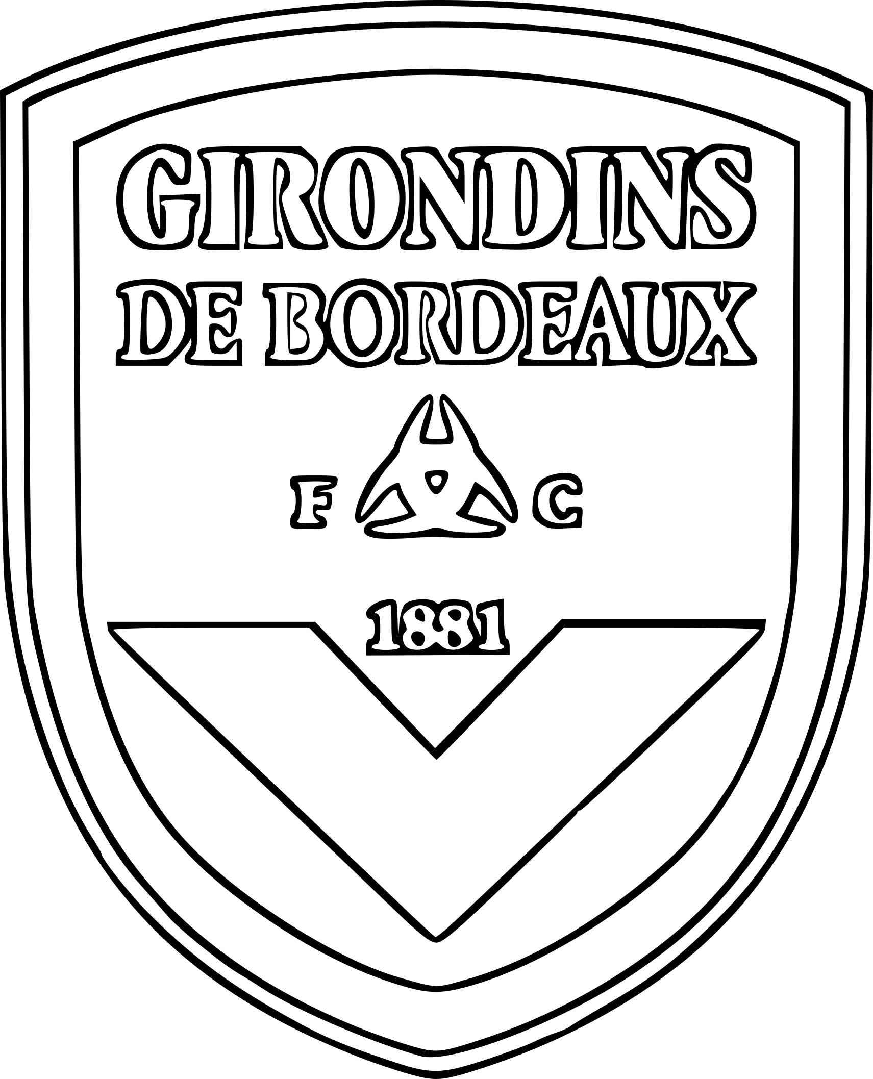 Coloriage ecusson girondins de bordeaux
