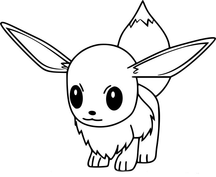 Coloriage Evoli Pokemon Go