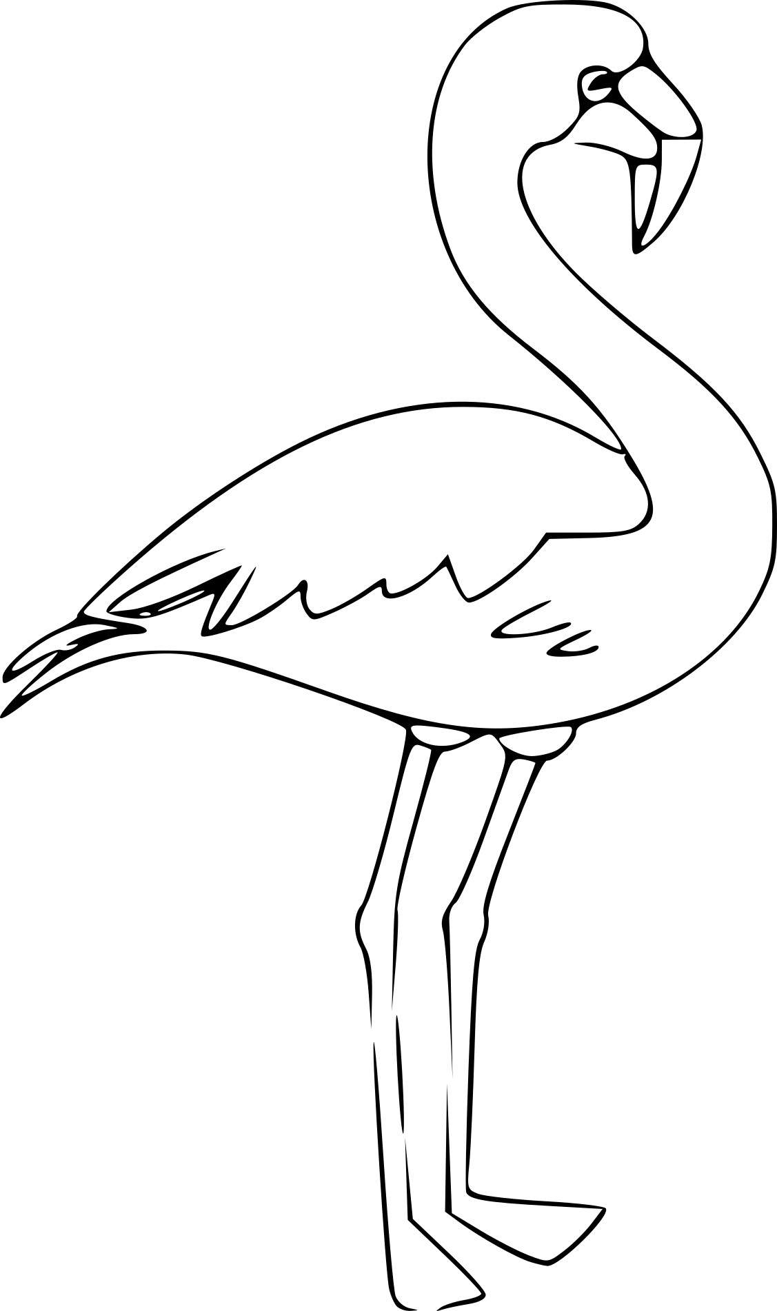 Flamants roses dessin - Coloriage rose ...