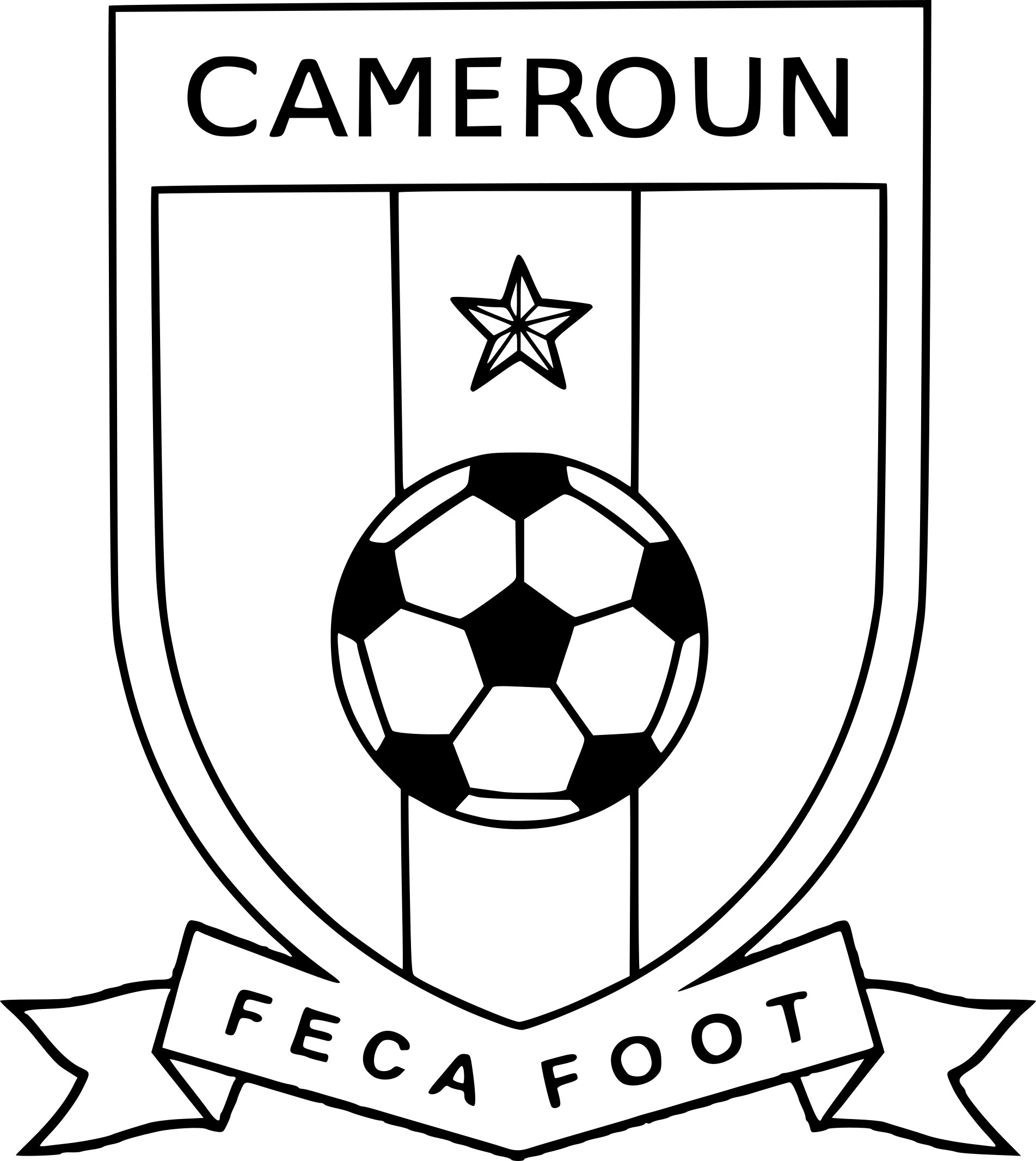 Coloriage foot cameroun