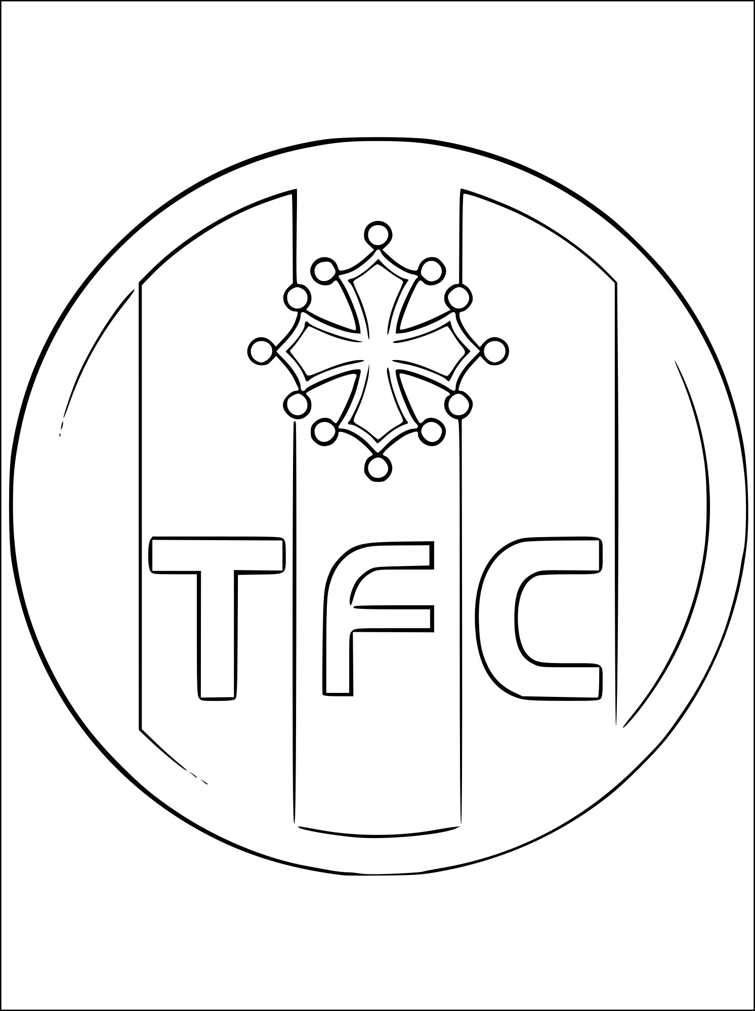 Coloriage foot toulouse