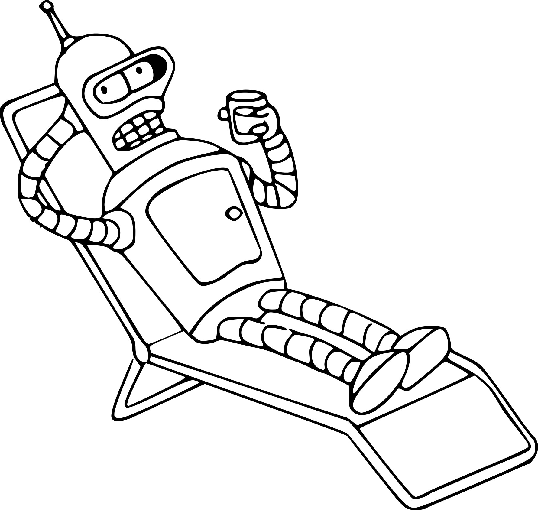 Coloriage Futurama Bender