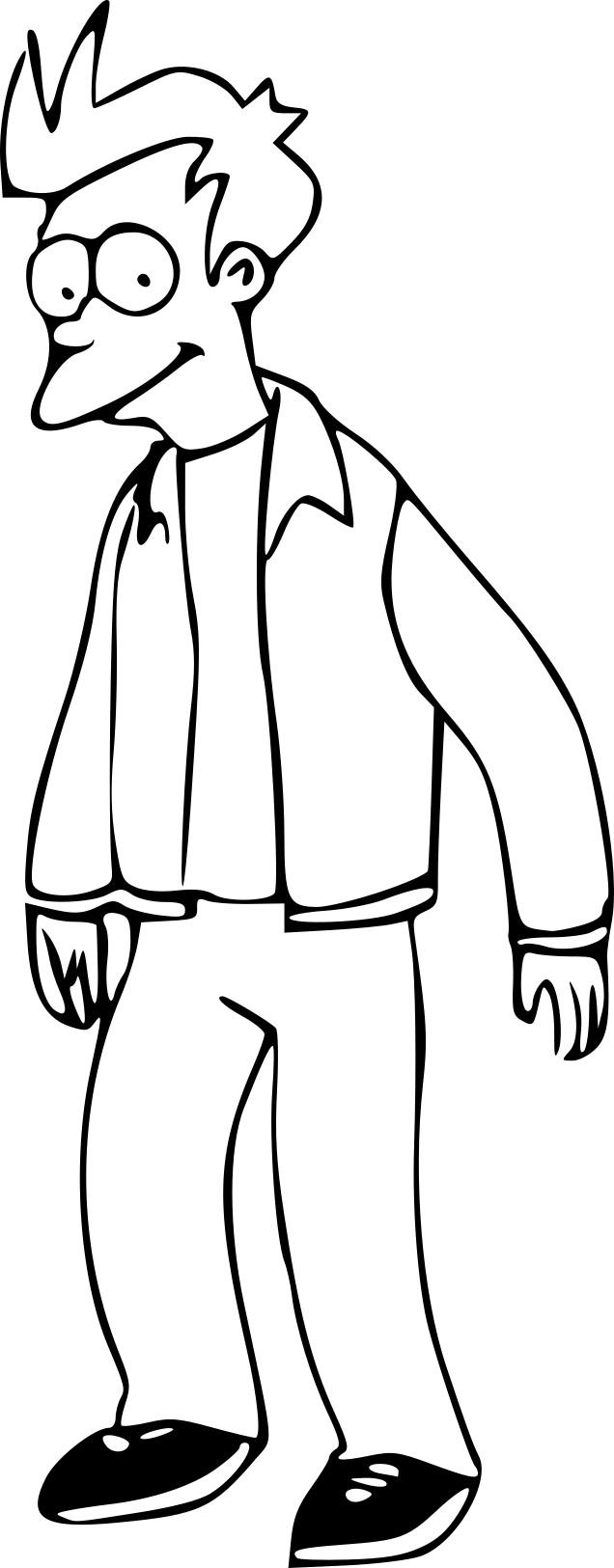 Coloriage Futurama Fry