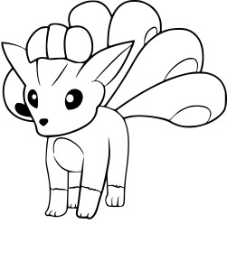 Coloriage Goupix Pokemon Go
