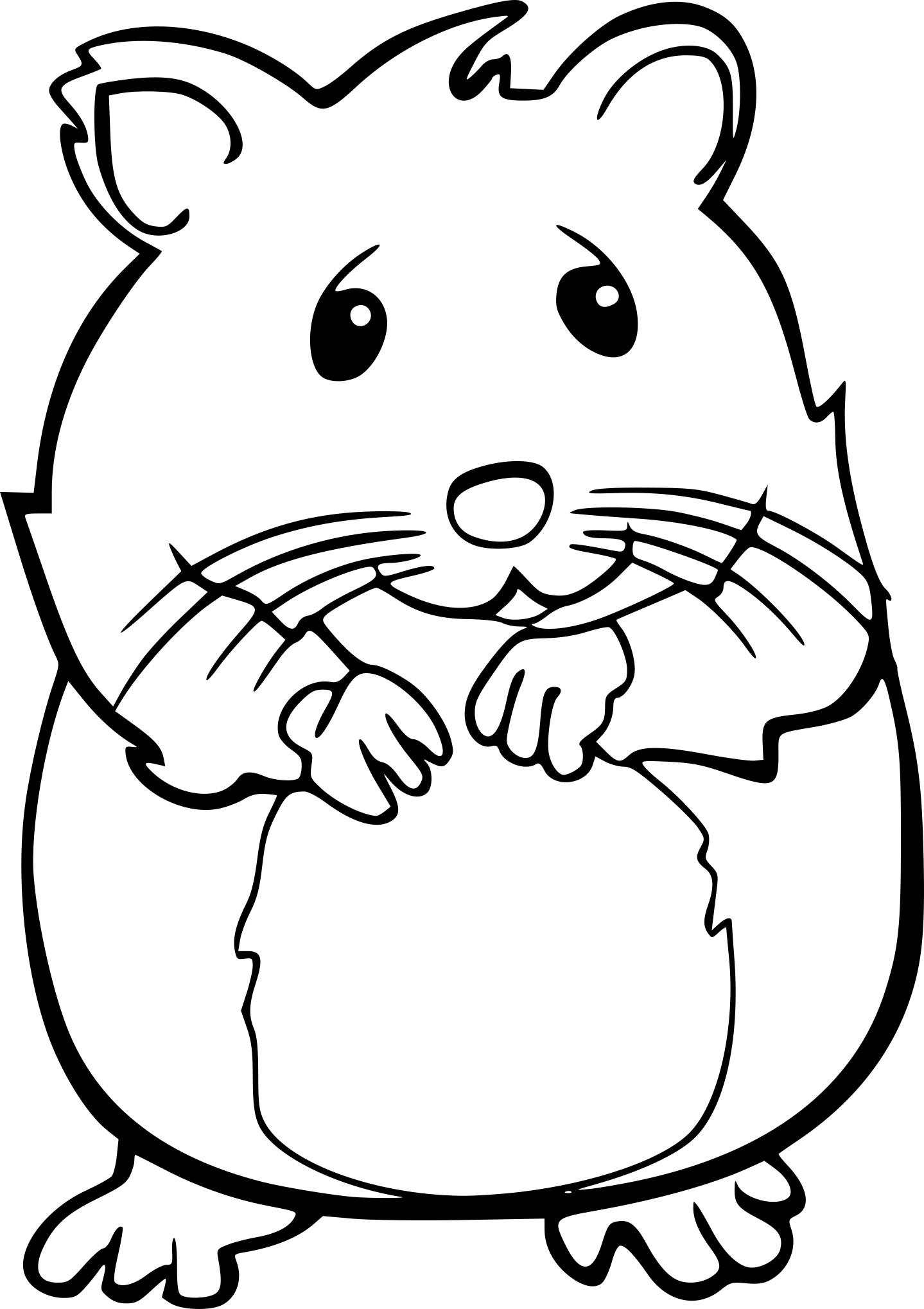 Coloriage Hamster Kawaii.Coloriage Chat Et Souris A Imprimer